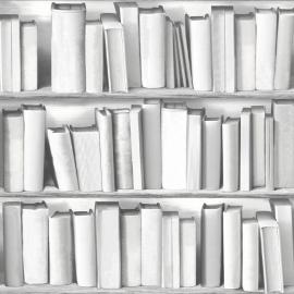 Boekenkast Behang Grijs 578429