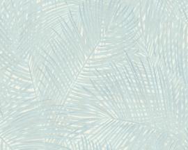 tropical floral behangpapier groen/blauw 37371-4