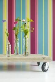 Strepen Bloemen Behang 321814