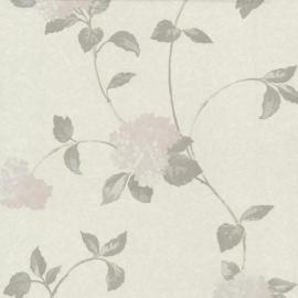 Behangpapier Bloemen Lila creme 13180-10