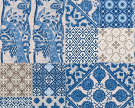 Barok behang Blauw 36923-1