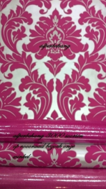 barok roze zilver vlies behang k22