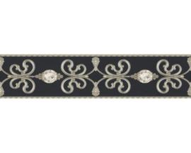 zwart Wit behangrand relief 36727-1