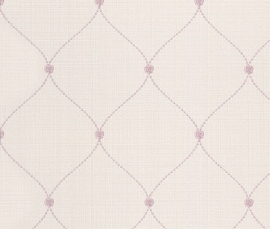 Trendy Behang Creme, Roze 450736