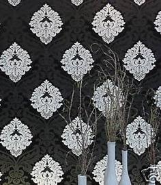 barok 3d behang zwart wit trendt 5543-14