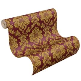 Barok behang rood goud rasch trianon 505368