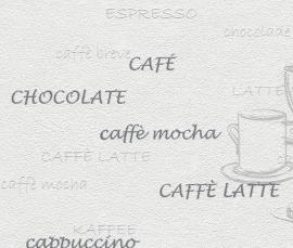 Behangpapier Koffie Wit Grijs Behang 770421