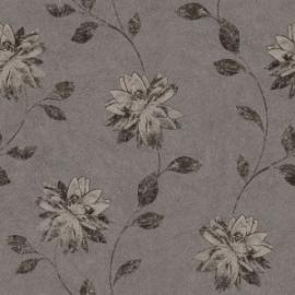 Bloemen Behang Bruin 425109