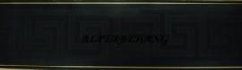 versace behangrand zwart glans met goud Griekse sleutel