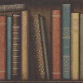 Behangpapier antieke boeken 2604-21230