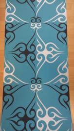 retro barok behang blauw xx10
