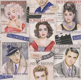 Tijdschriften behang fashion magazine behang xx245