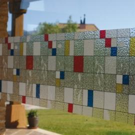 statische raamfolie glas in lood kleur