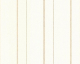 Strepen Behang Beige, Wit 7055-94