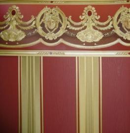 rood goud strepen klassiek behang versace 138745