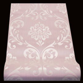 Klassiek roze Glans barok behang 13110-90