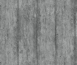 Behangpapier Zilvergrijs Hout Behang  826043