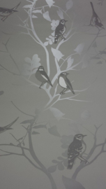 vogel takken bomen parelmoer behang 025
