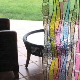 statische raamfolie mozaik gekleurd