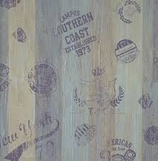 Lef sloophout behang 48873 paars