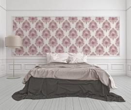 barok behang rood lambriseringbehang dubbelbreedbehang