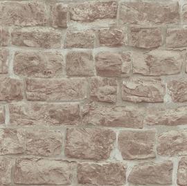 Behangpapier Stenen Bruin Grijs  5818-11
