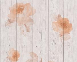 New England 2 behangpapier 96112-3 rozen