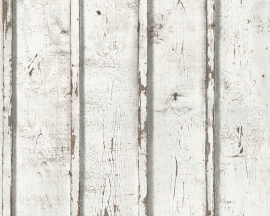 Behangpapier Hout Grijs Wit Bruin 95370-1