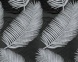 Behangpapier Glitter Zwart grijs 95878-2