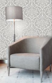 zilver damask glim behang fd42529 fine decor