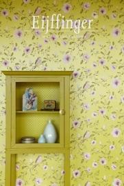 Behangpapier  Groen Roze Bloemen 310012