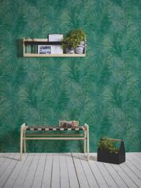 tropical floral behangpapier groen 37411-2