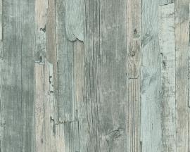 Behangpapier Sloophout Groen95405-5