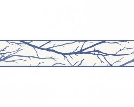 Schöner Wohnen 2684-33 takken behangrandpapier blauw
