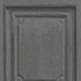 Houten Panelen Zwart  Behang 524420