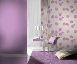 paars bloemen behang xx2