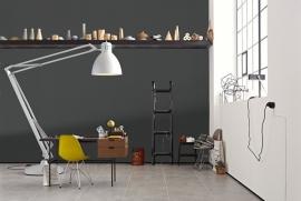 2995-74  grijs antraciet vlies mooi modern behang