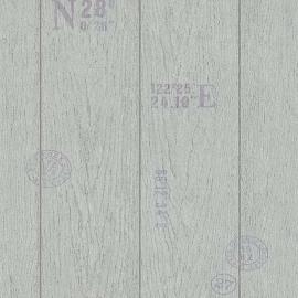 Behangpapier Houtbehang Grijs  6945-10