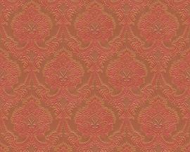 Behangpapier rood goud
