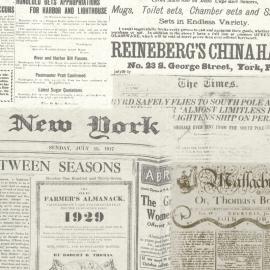 Behangpapier Oude Kranten 2604-21267