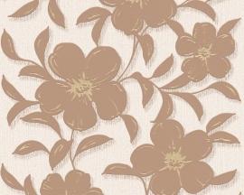 Schöner Wohnen bloemen behangpapier 94357-3 bruin