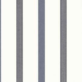 Behangpapier Streep blauw 13181-40