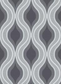 grijs retro behang 10098-15