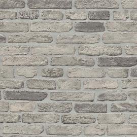 Behangpapier Stenen Grijs   6939-15