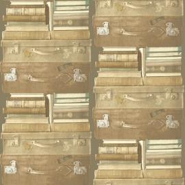 Exposed behang PE06028 Koffers & Boeken