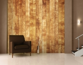 Fotobehang houten muur