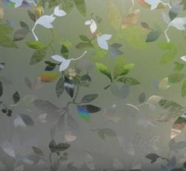 statische raamfolie bloemen bladeren xx88