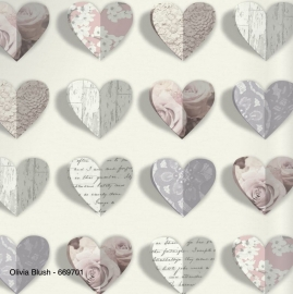 Arthouse Options 2 669701 hartjes bloemen 3D behang