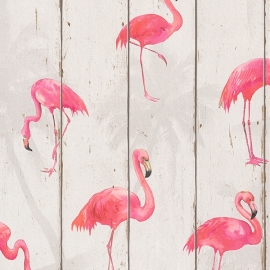 Flamingo Behang beige  479720