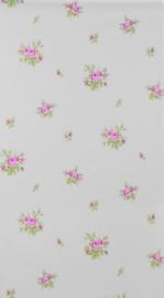 Engelse stijl bloemen roosjes behang 411300